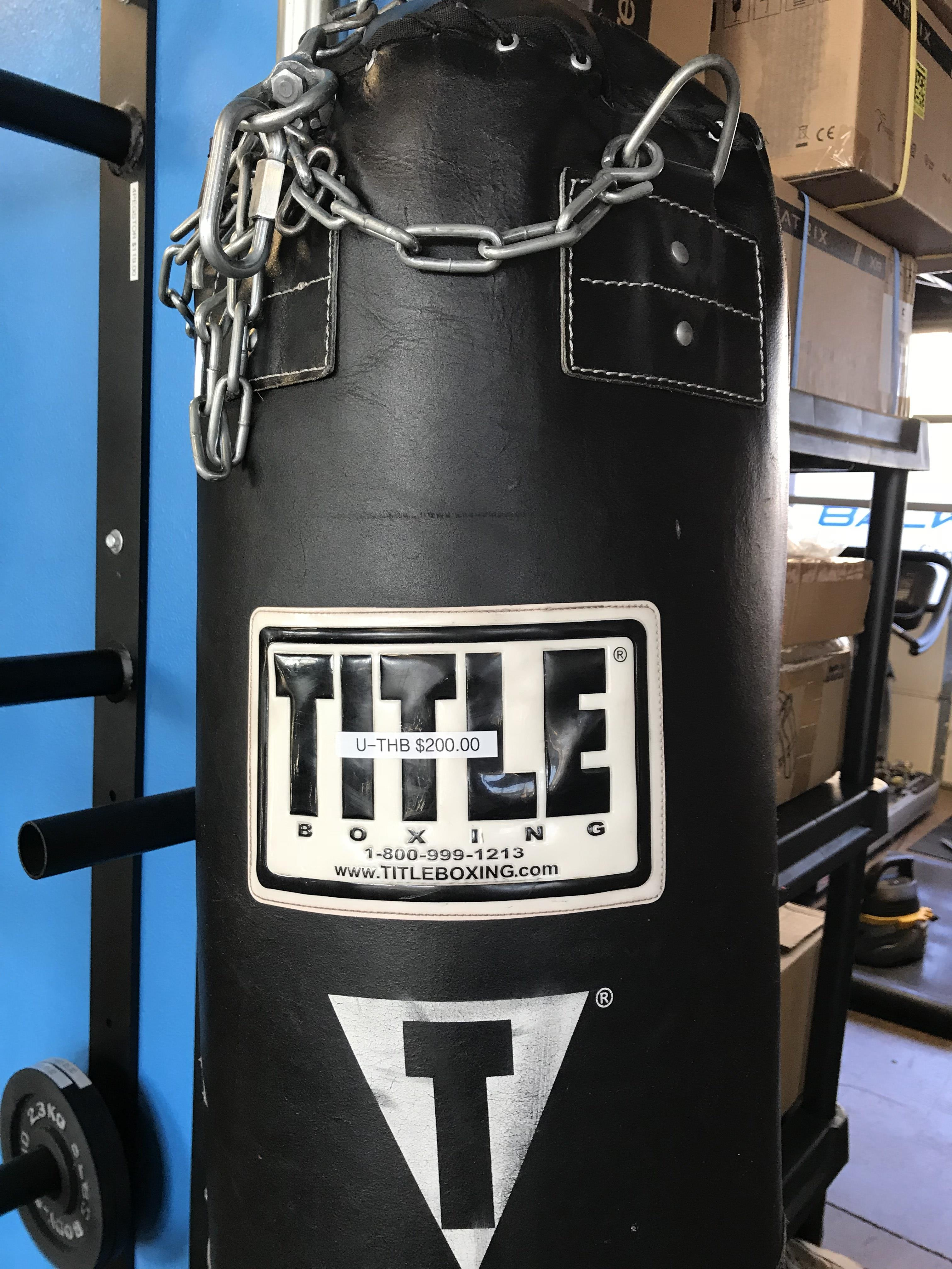 Le Boxing Leather Thai Heavy Bag Used